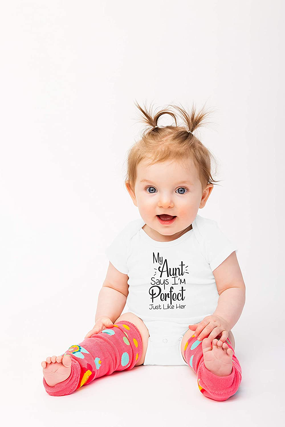 One-Piece Baby Bodysuit Funny Cute Infant Creeper My Aunt Says Im Perfect Just Like Her