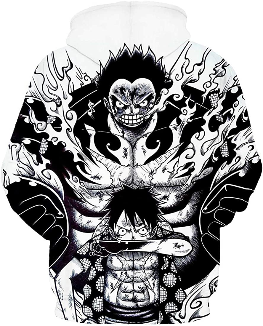 PANOZON Gar/çon One Piece Sweat /à Capuche Fans Sweat Manga Animation Japonaise Populaire Haute Classe