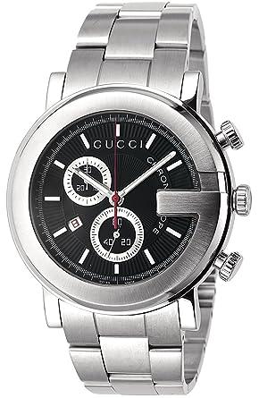 15dc08178edf Amazon | [グッチ]GUCCI 腕時計 101M ブラック SS クロノグラフ YA101309 ...