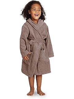 Amazon.com  TowelSelections Kids Hooded Velour Bathrobe for Boys and ... 0fa8e9f33
