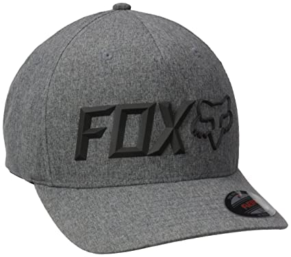 Fox Mens Sonic Corp Flexfit, Heather Graphite, Small/Medium