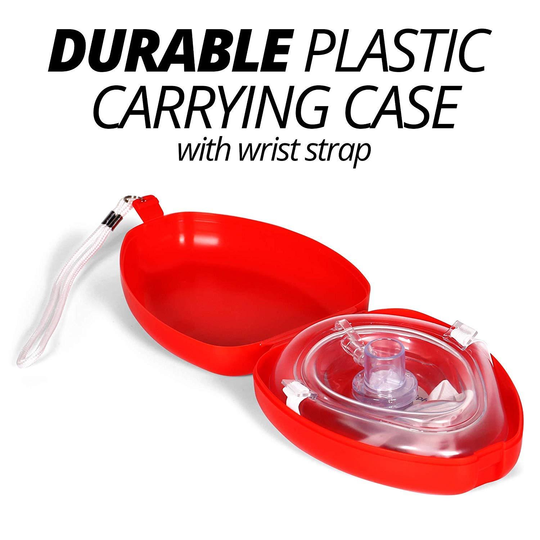 Amazon.com: CPR Mask & Valve Pocket Resuscitator Kit: Health ...