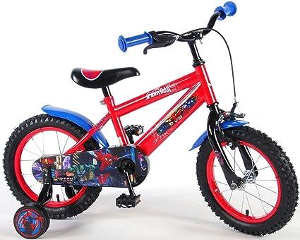 Spiderman Marvel 1454ch Bicicletta Per Bambini 14 Pollici