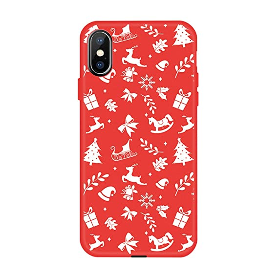 a4e2eff9ed5b46 Amazon.com  Christmas Mobile Phone Soft Shell for iPhone 6 6s XS Max ...
