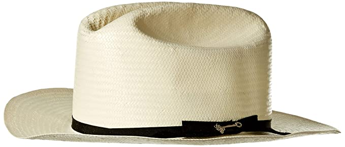 934d73ca4dadc Stetson Open Road Straw Western Hat - Natural at Amazon Men s Clothing  store