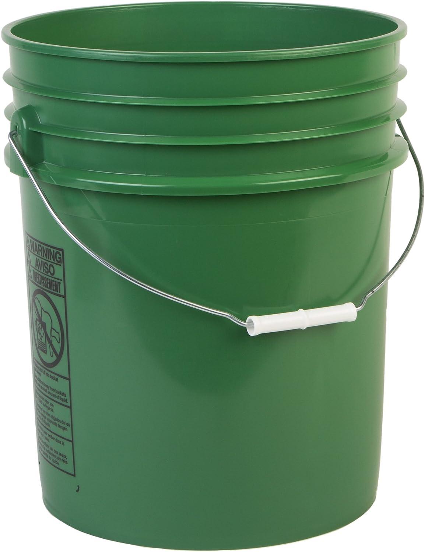 Hudson Exchange Premium 5 Gallon Bucket, HDPE, Green