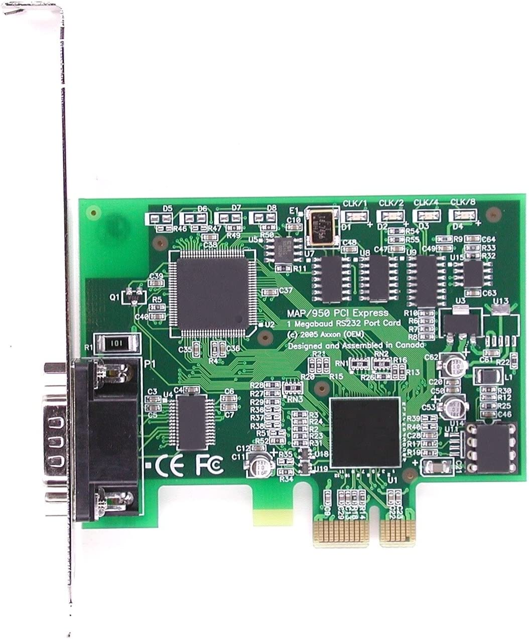 LF659KB PCIe 1 Port RS232 Serial Card Adapter