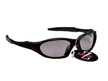 RayZor Professional Lightweight UV400 Black Sports Wrap Cricket Sunglasses W...
