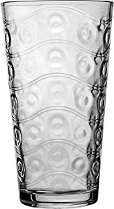 Circleware 40170 Cosmo Set of 4 Heavy Base Highball Drinking Glasses Tumblers, Ice Tea Beverage Cups Glassware for Water, Juice, Beer and Bar Decor Gifts, 15.7 oz,