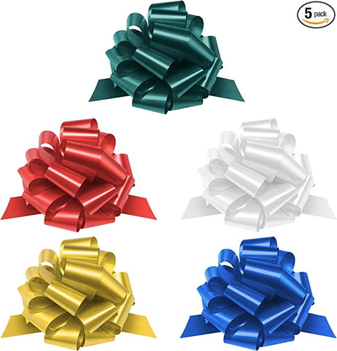 Gift wraps, WXJ13 One Box 30 Pack Golden Large Ribbon Pull Bows for Party wall