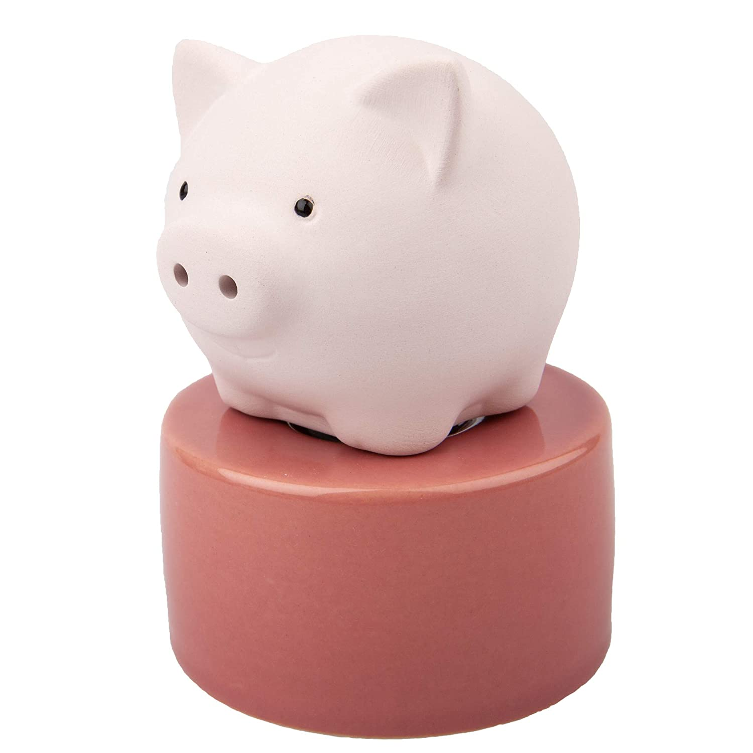 Lively Breeze Pinky Pig, Diffusers for Essential Oils and Aromatherapy Fragrance, Non-Electric Ceramic, White Ceramic Oil Diffuser Car, White Ceramic Diffuser Bathroom and Desk Office Decor, Pink Vase