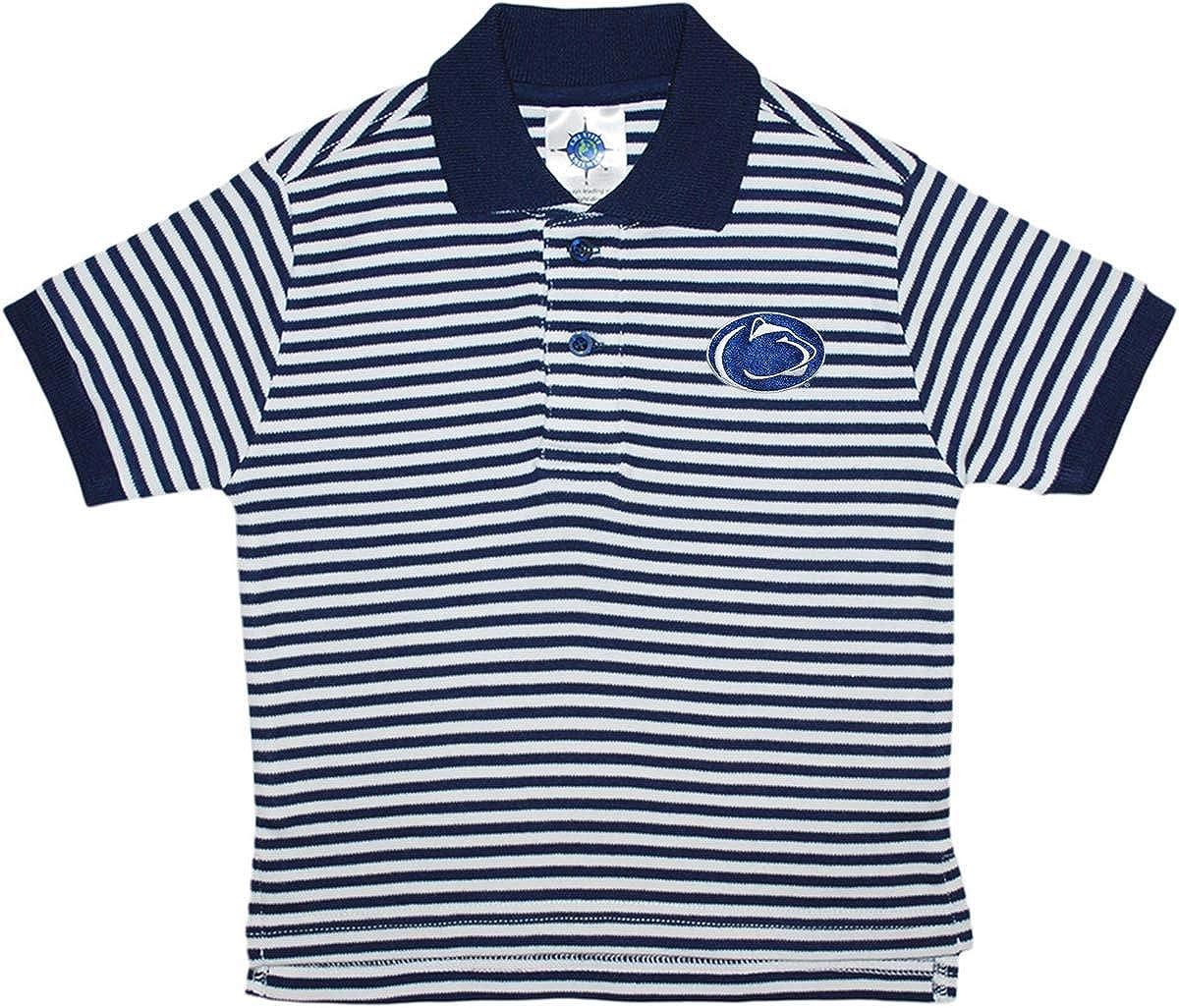 Amazon Penn State University Nittany Lions Striped Polo Shirt