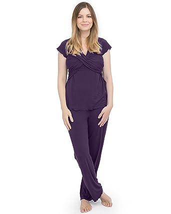 Kindred Bravely Davy Ultra Soft Maternity   Nursing Pajamas Sleepwear Set  (Eggplant b338c9bb8