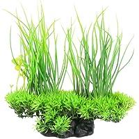 Jardin Plastic Emulational Decorative Long Leaf Plant for Aquarium, 20cm (Green)