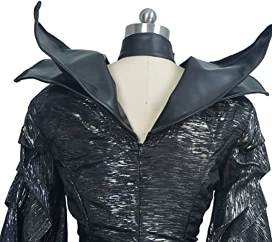 Mesky EU Maléfica Disfraz Maleficent Cosplay 2PZ Deluxe con Choker ...