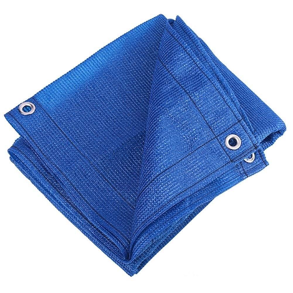 FQJYNLY オーニングシェード遮光ネットポリエチレン老化防止防塵屋外の園芸フラワーズグロメット、2色,10サイズ (Color : Blue, Size : 4x4m) B07TK2GJXM Blue 4x4m