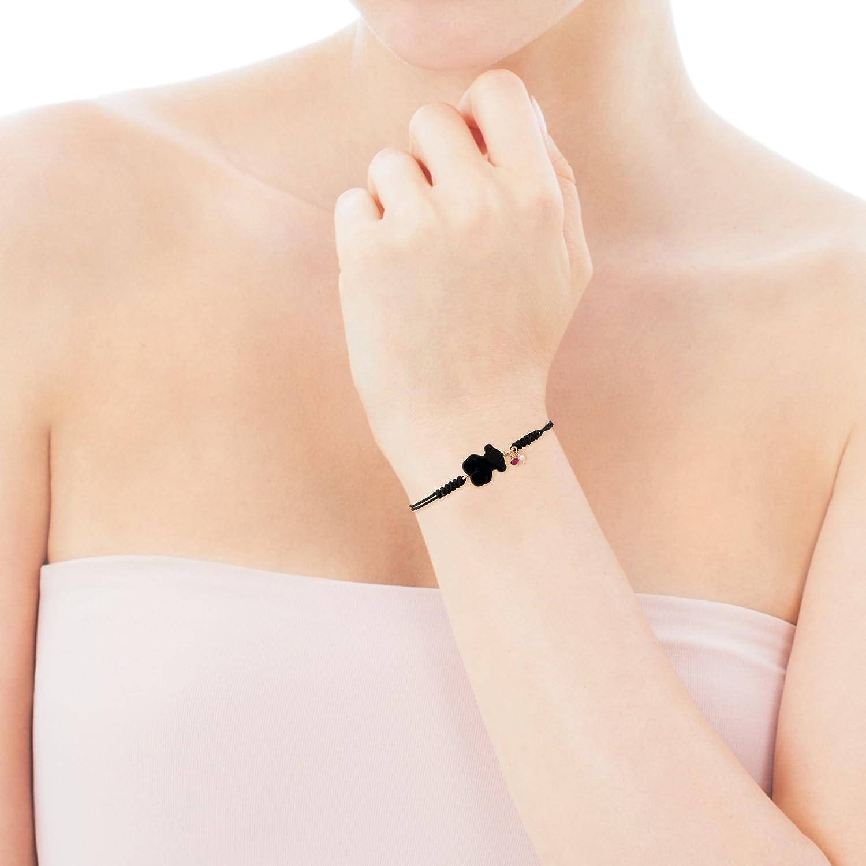 Pulsera de cuerda de /ónix para mujer TOUS
