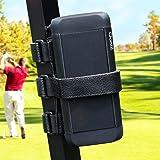 Universal Portable Golf Cart Speaker Mount, Adjustable Strap Attachment Accessory Holder Bar Rail for Golf Cart Railing - Fit