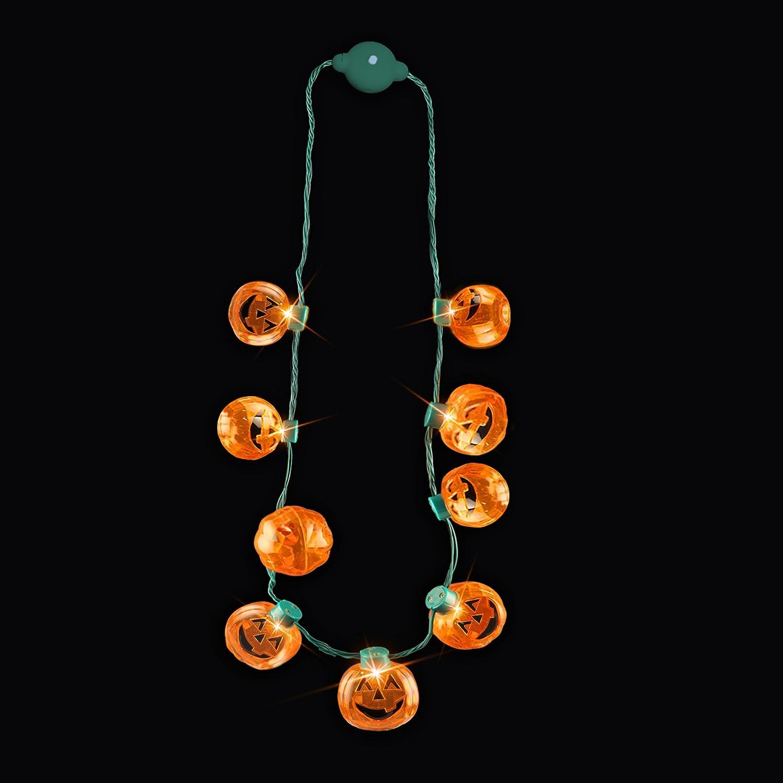 Halloween Pumpkin Lantern Necklace Favors Image 2