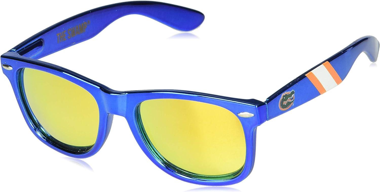 Blue Lenses Sunglasses One Size NCAA Florida Gators FLA-3 Orange Front Temple Orange