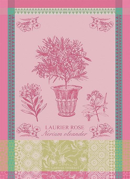 Garnier-Thiebaut French Country Kitchen Dish Towel Fraisier Rose New
