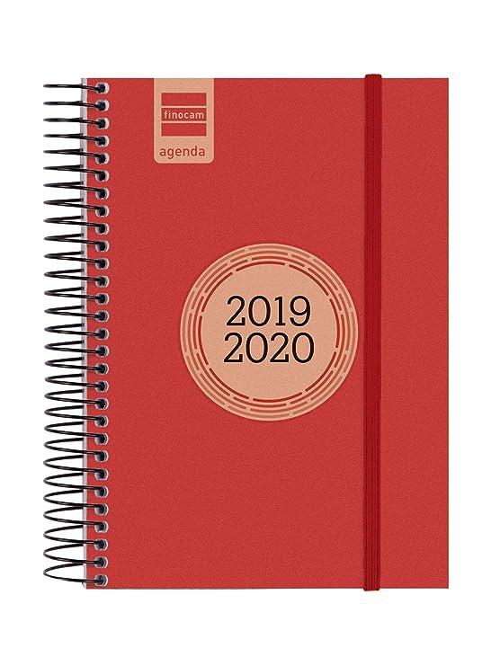 Finocam - Agenda 2019-2020 1 día página catalán Espir Label Rojo