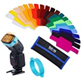 Selens Universal Flash Gels Lighting Filter SE-CG20 - 20 pcs Combination Kits for Canon Nikon Sony Godox Yongnuo Camera Flash Light