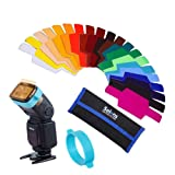 Selens Universal Flash Gels Lighting Filter SE-CG20 - 20 pcs Combination Kits for Camera Flash light