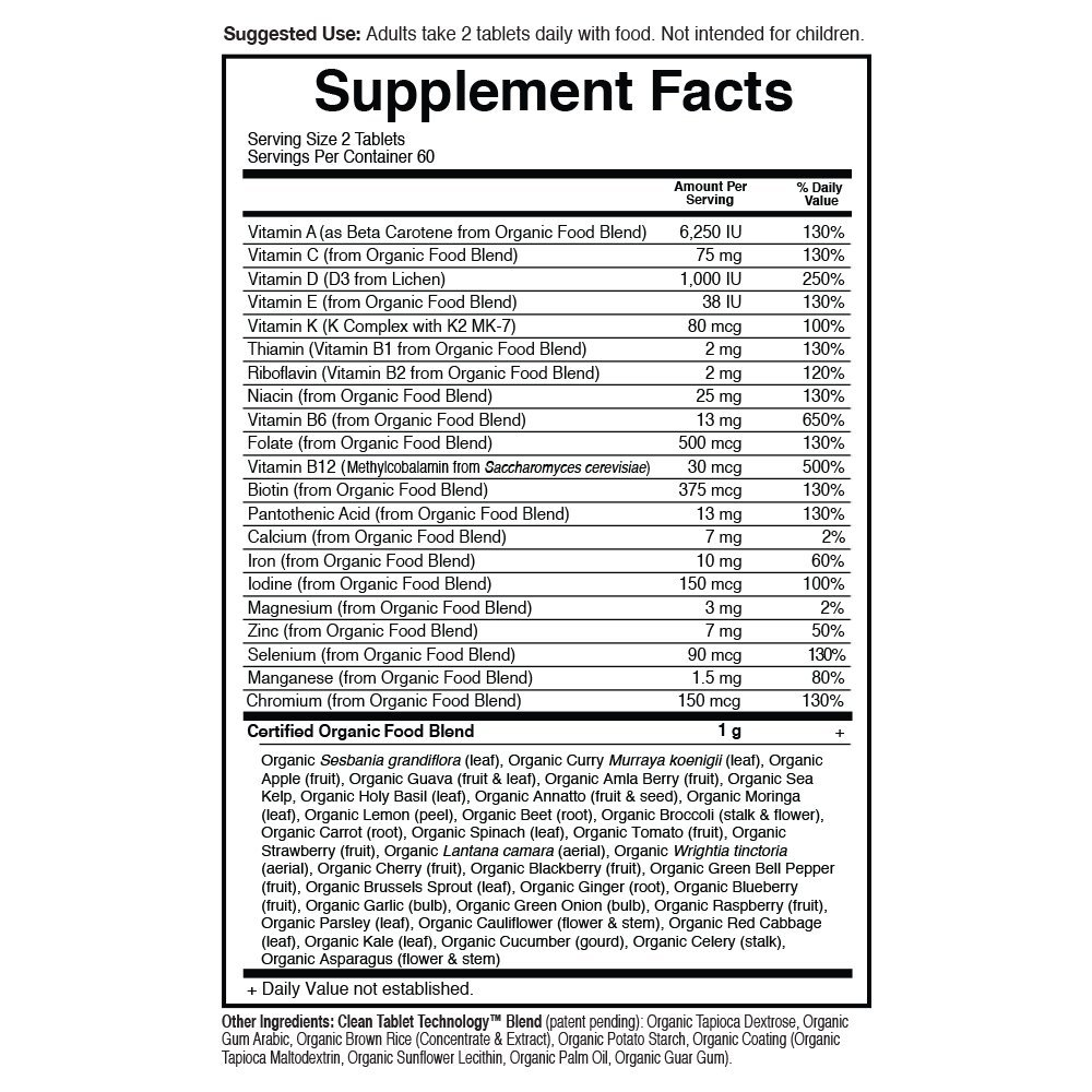 Garden of Life Multivitamin for Women - mykind Organic Women Whole Food Vitamin Supplement, Vegan, 120 Tablets by Garden of Life (Image #6)