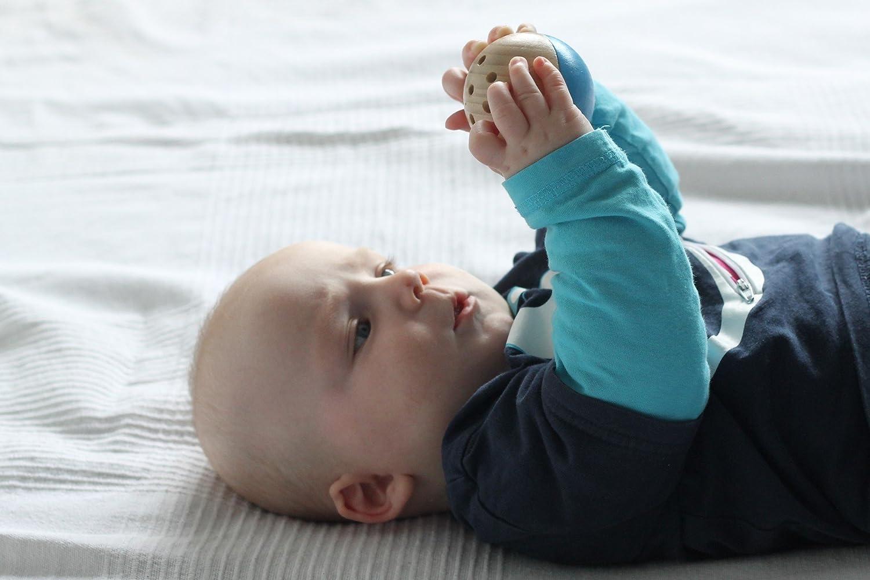 blau rewoodo Baelly Premium Babyspielzeug Holzspielzeug aus Deutschland