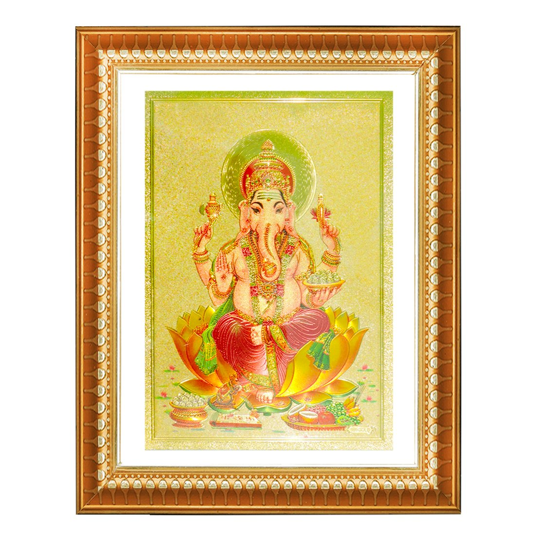 Drei Juwelen (Jainismus) Lord Ganesha Rahmen Wand/Tür Aufhängen ...