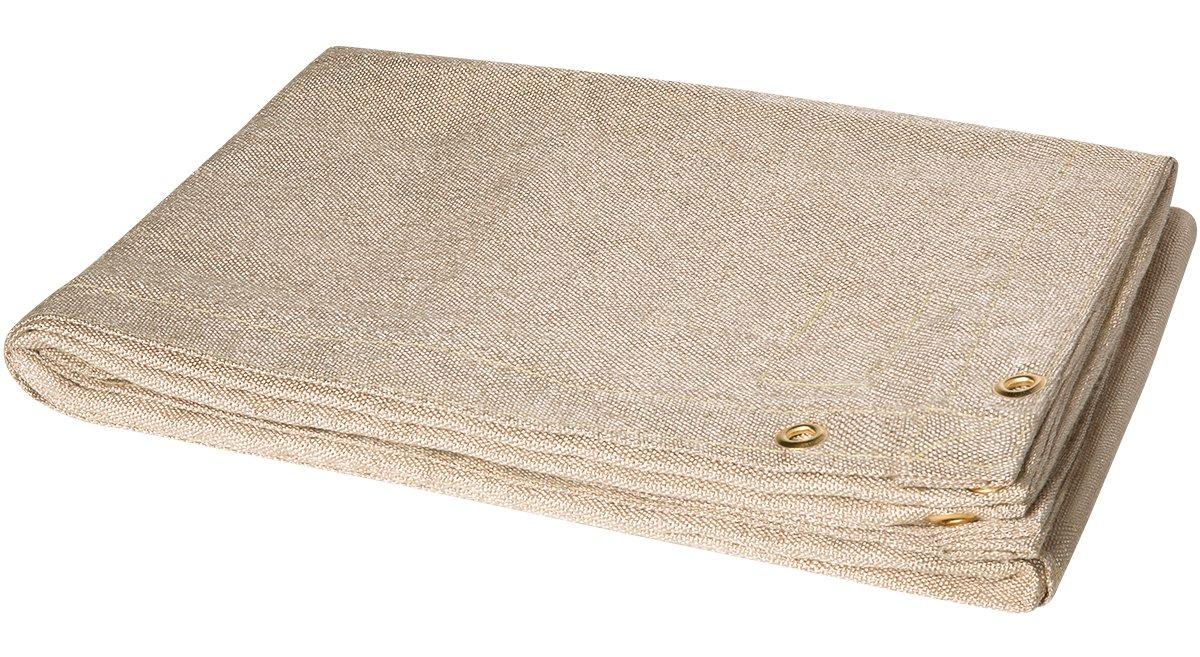 Tan 10 x 10 Steiner 372-10X10 Tough Guard 18-Ounce Heat Cleaned Fiberglass Welding Blanket
