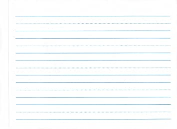 Lined paper for kindergarten writing writing evaluation essay