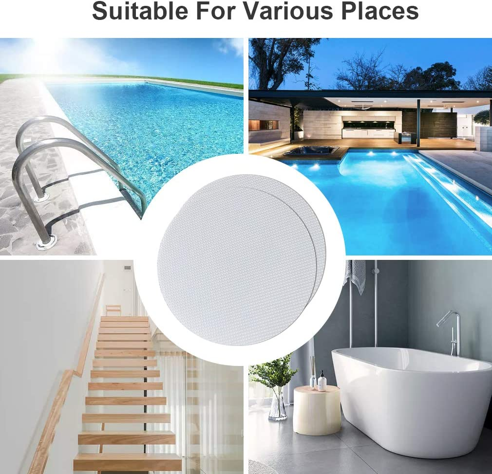 Safety Treads Adhesive Decals with Scraper for Slippery Bathroom Tubs Shower Room Swimming Pool Floor Stairs Flower VANZAVANZU Bath Tub Stickers 24 PCS Non-Slip Bathroom Bathtub Shower Stickers