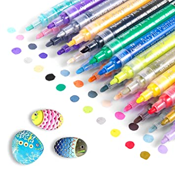 Acrylic Paint Marker Pens Waterproof Paint Pens For Rocks Painting Ceramic Glass Wood Fabric Canvas Mugs Diy Craft Making Supplies