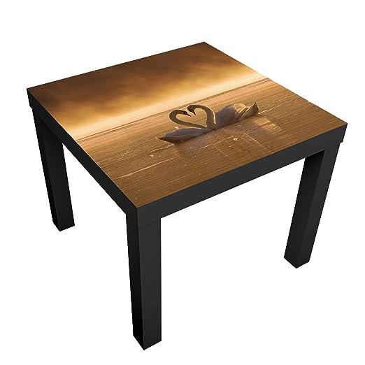 Bilderwelten Mesa de diseño - Lovers - 55x55x45cm, Mesa Auxiliar ...