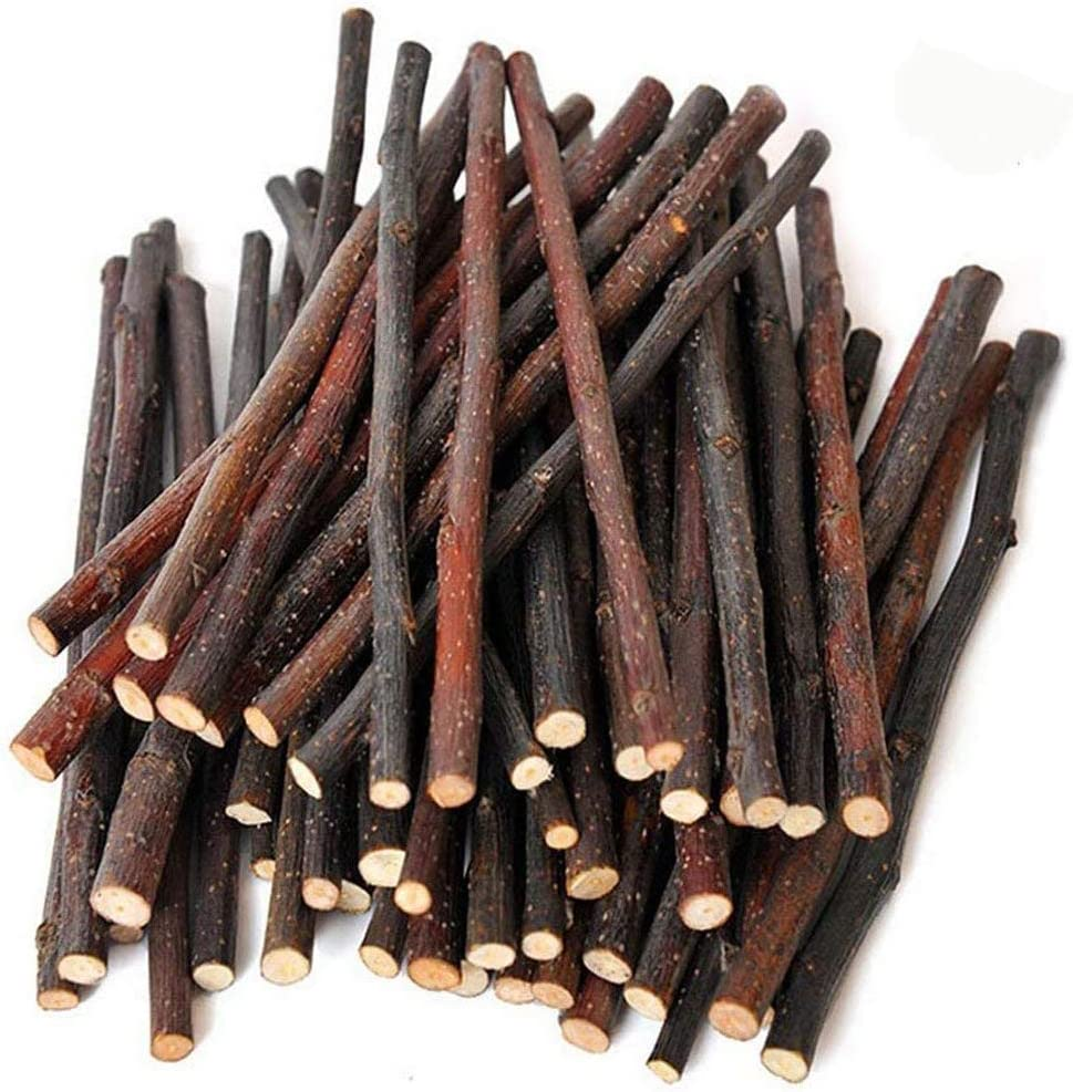 500g Organic Apple Sticks Wood Tree Branches Pet Snacks Chew Toys Branch for Guinea Pigs Chinchilla Squirrel Rabbits Hamster Small Animals