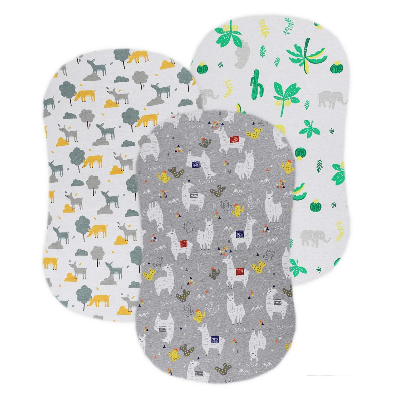 Cute Navy Elephants Moses basket sheet Bassinet Sheet
