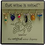 Wine Things WT-1409P Grapevine Wine Charms, Painted