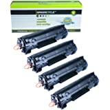GREENCYCLE 4 PK Compatible Canon 128 3500b001aa Black Laser Toner Cartridge for Canon ImageCLASS D530 MF4570dw MF4770N D530