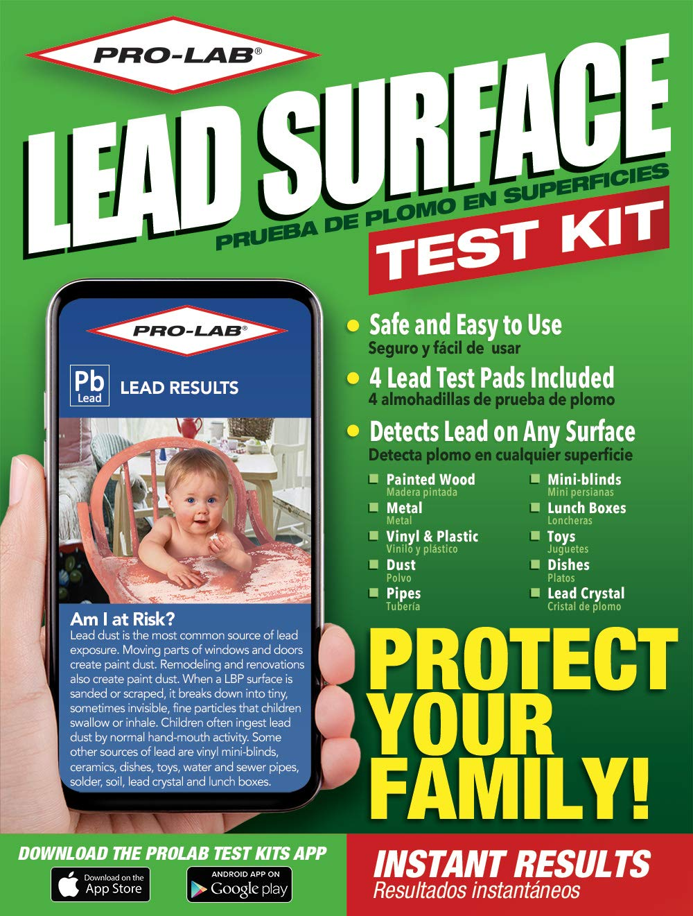 PRO-LAB Lead Surface Do It Yourself DIY Test Kit LS104