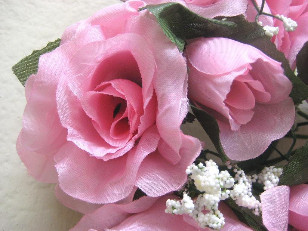 3-Candle-Rings-Rose-Center-Piece-Artificial-Silk-Flowers-4005-Pink