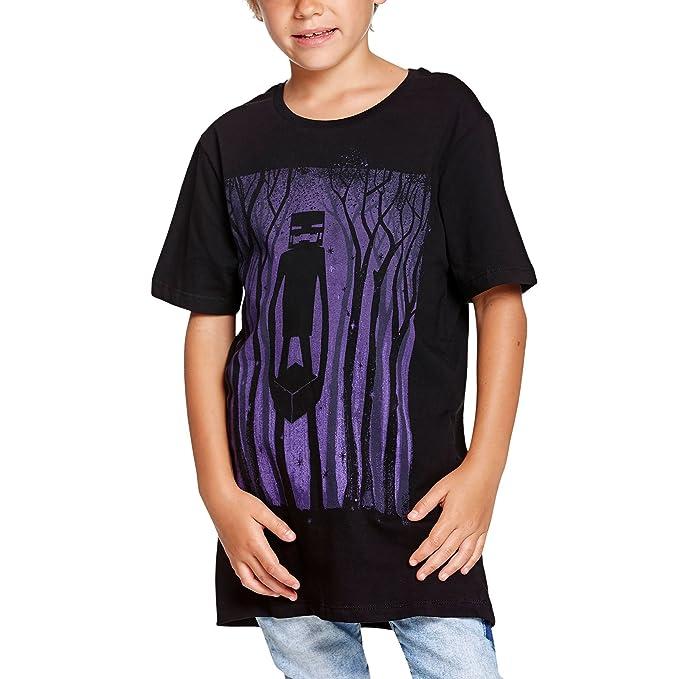 Camiseta Minecraft niños Enderman Sombra de algodón negro - 164/170