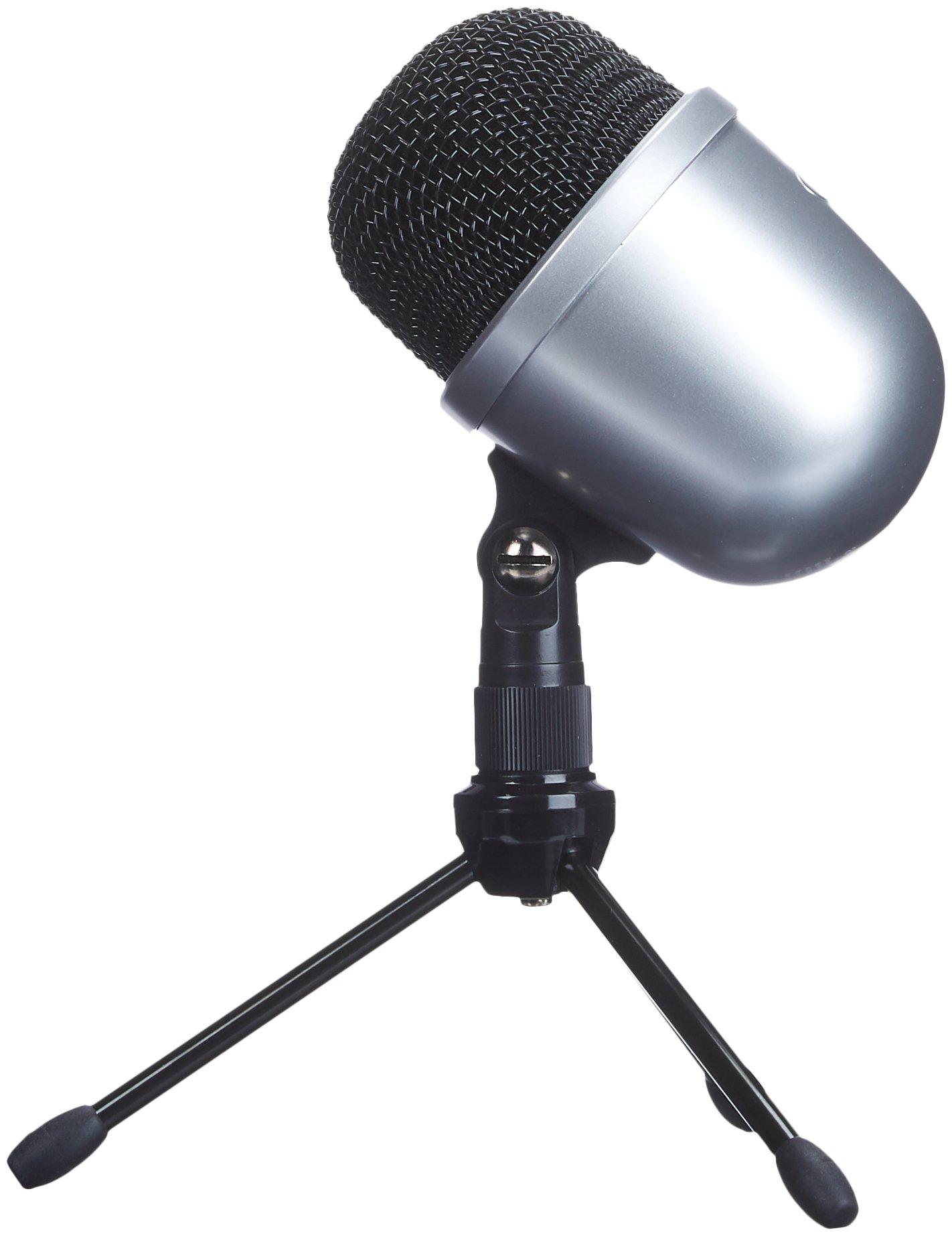 AmazonBasics Desktop Mini Condenser Microphone With Tripod - Silver by AmazonBasics (Image #1)