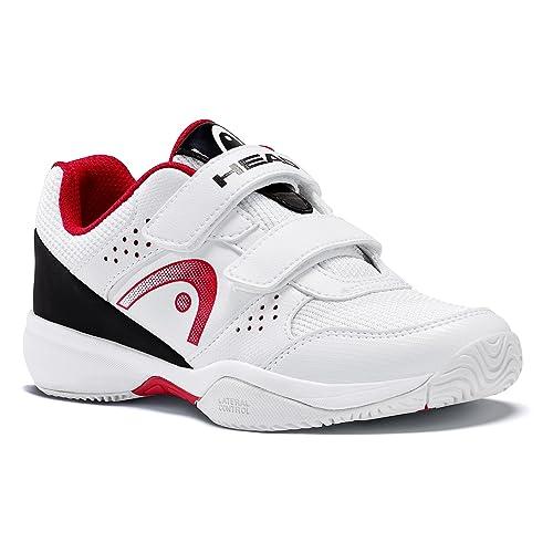 Head Sprint Velcro Junior 2.0 Zapatillas de Tenis Unisex Niños, Blanco (White/black