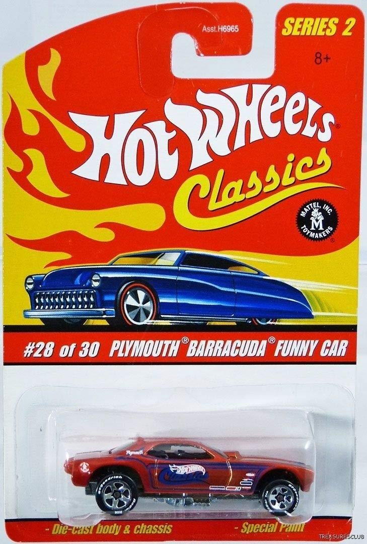 Hot Wheels CLASSICS PLYMOUTH BARRACUDA FUNNY CAR Red #28 of 30 Series 2