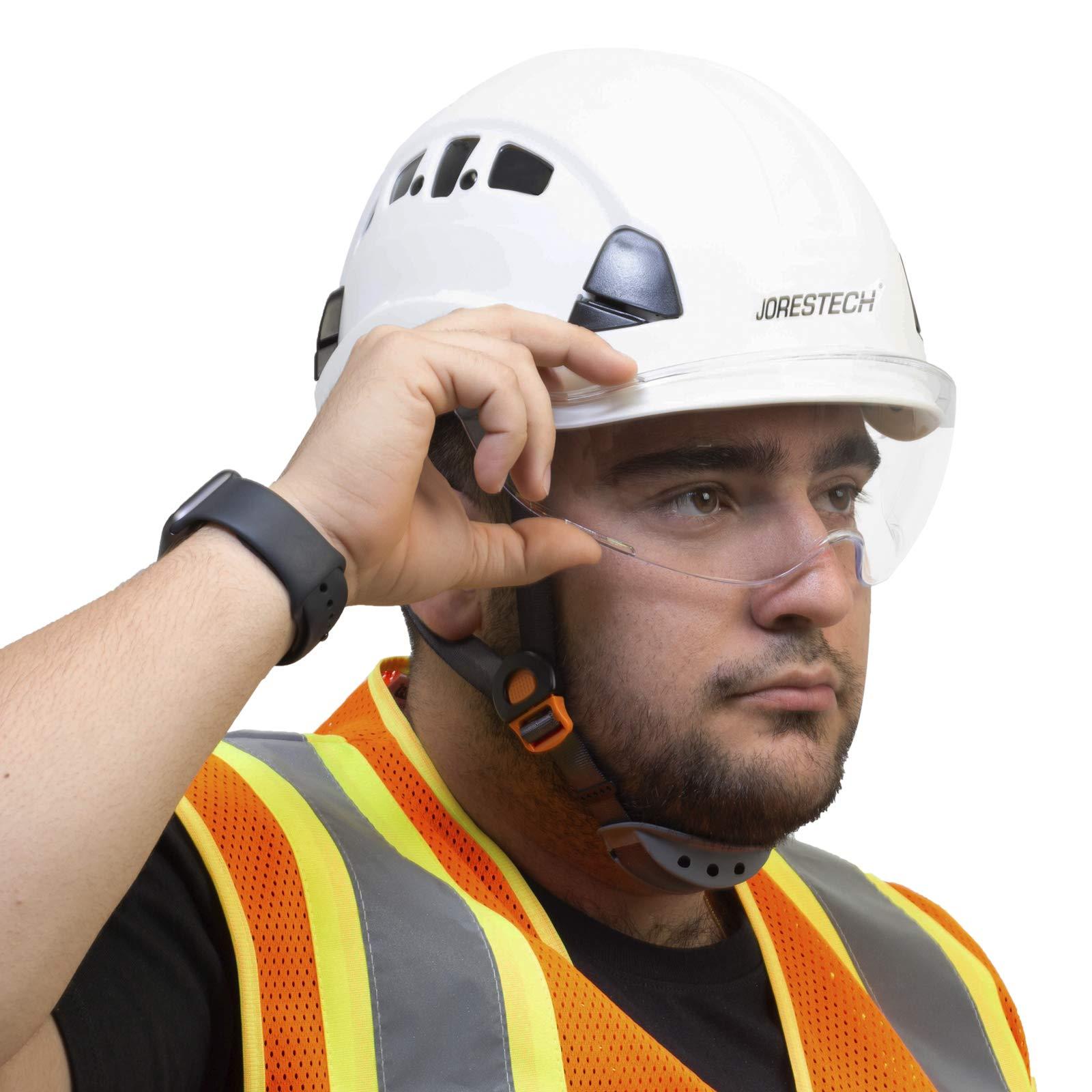 JORESTECH Sliding Retractable Integral Visor Shield for Helmet Mounted Eye Protection PPE by JORESTECH (Image #5)