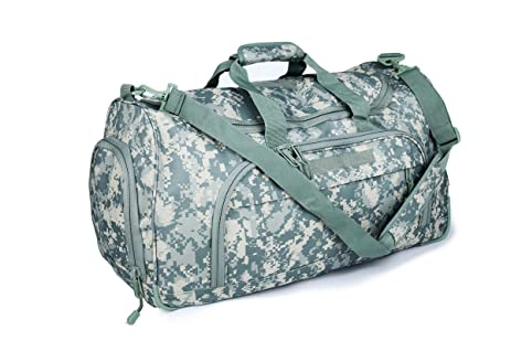 Heavy Duty Duffel Bag 600d Polyester With Multi Compartment Self Healing Zippers Shoulder Strap