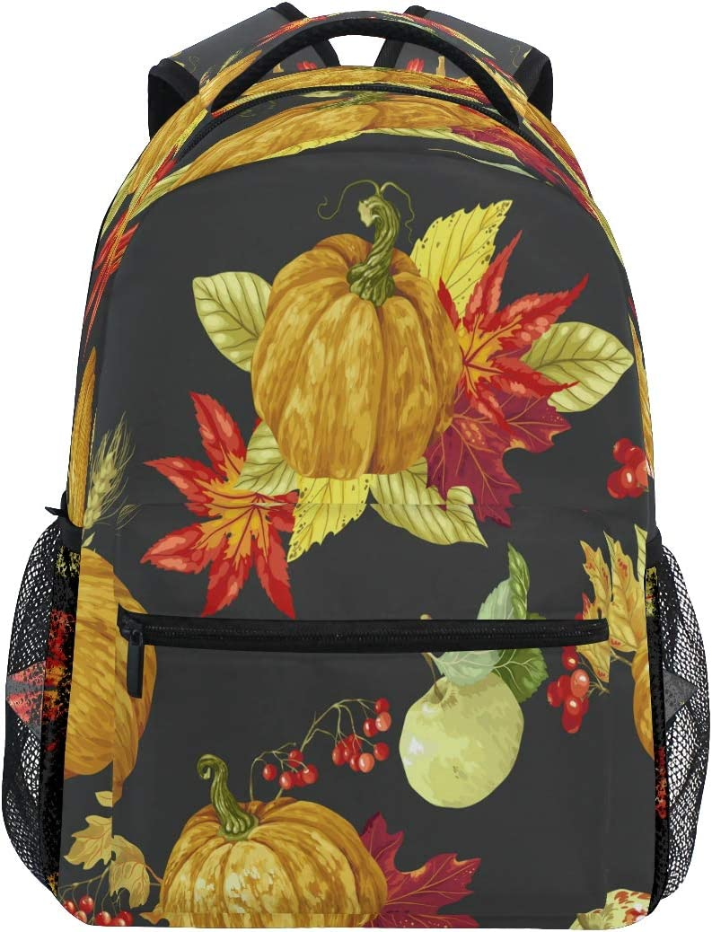 Harvest Season Thanksgiving Day School Bookbags Computer Daypack for Travel Hiking Camping Laptop Backpack Boys Grils