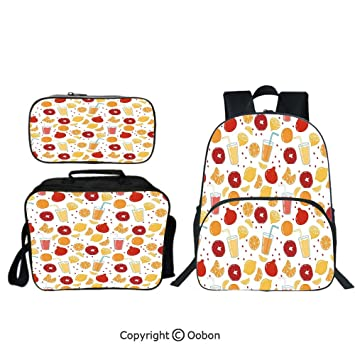 Pomegranates /& Lemons Kids Backpack Personalized